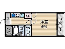 ロイヤルミサワ[5階]の間取り