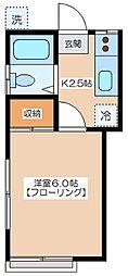 亀井ハウス[101号室]の間取り