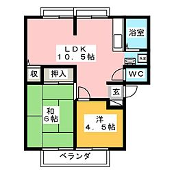 サンビレッジ赤目A[1階]の間取り