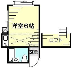 ハイム神奈川[1階]の間取り