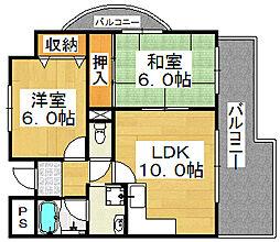スイートピーヒルTK[2階]の間取り