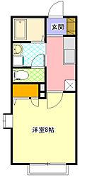 コーポ北澤III 1階1Kの間取り