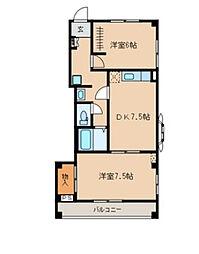 プレジャーズマンション[2階]の間取り