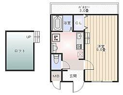 ラークハイツ[1階]の間取り