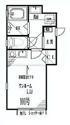 神奈川県川崎市川崎区小田6丁目の賃貸アパートの間取り
