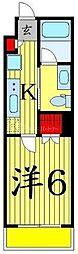 マーロ立石レジデンスシャープR 4階1Kの間取り