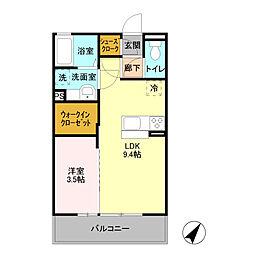 D-room ibuki[3階]の間取り