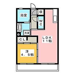 仮)D−room西脇[1階]の間取り