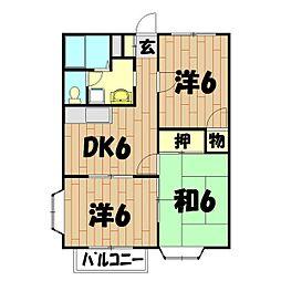 クレストB[2階]の間取り