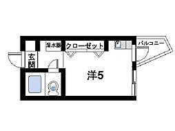 ナラ・レジデンス・モア[4階]の間取り