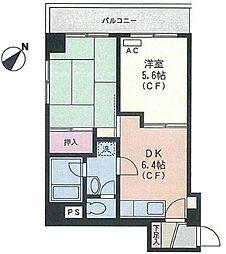神奈川県横浜市南区宮元町2丁目の賃貸マンションの間取り