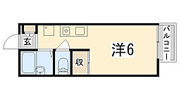 グランボナール下野田[205号室]の間取り