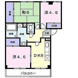 メゾンコジマB[2階]の間取り