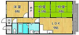 エステル津田[4階]の間取り