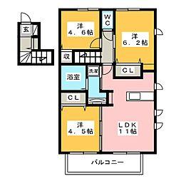 D-room 花畑参番館[2階]の間取り