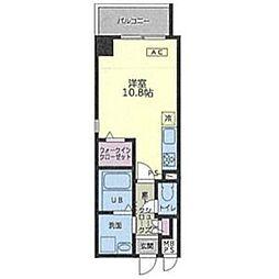 リゾナーレ・マルノウチ 6階ワンルームの間取り