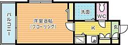 ダイナコート小倉下到津Ⅱ(407)[407号室]の間取り