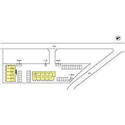 マロニエジャルダン B[2階]の外観