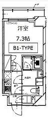 東京メトロ有楽町線 月島駅 徒歩3分の賃貸マンション 3階1Kの間取り