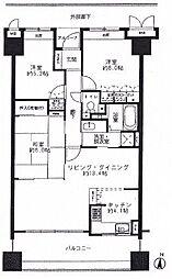 サーパス西桜町[7階]の間取り