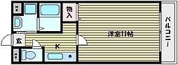 ベルシオン岡本[2階]の間取り