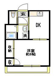 パシフィック平塚[5階]の間取り
