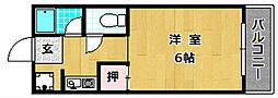 ホウトクマンション[2階]の間取り