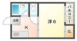 サンシャイン東[3階]の間取り