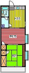 CYS駒場[2階]の間取り