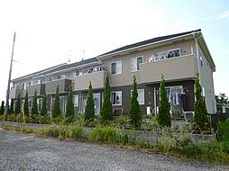 岡山県倉敷市真備町有井の賃貸アパートの外観