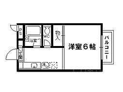 ラフォーレダイゴA棟[2階]の間取り