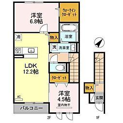 JIN/輝 B棟[203号室]の間取り