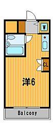 神奈川県横浜市瀬谷区二ツ橋町の賃貸マンションの間取り