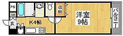 住吉橋TKハイツ[3階]の間取り