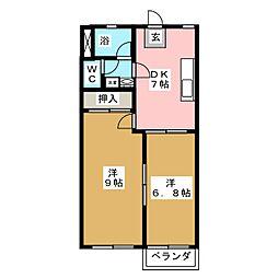 コーエーハイツ[2階]の間取り