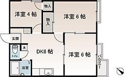 トラリューム第2シムラ[2階]の間取り