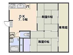 居藤ハイツ[201号室]の間取り