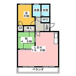 CRYSTAL PALACE[4階]の間取り