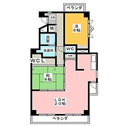 弥富青山ハイツN棟[4階]の間取り