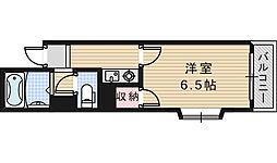 グロー駒川中野[501号室]の間取り