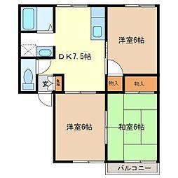 タウニィ稲葉SW[2階]の間取り