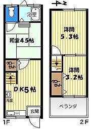 [一戸建] 大阪府大東市南津の辺町 の賃貸【/】の間取り