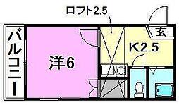 アロッジオ桜ヶ丘[102号室]の間取り