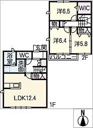 [タウンハウス] 愛知県小牧市大字間々原新田 の賃貸【/】の間取り