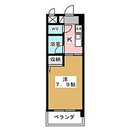 クリエイティブ一宮[6階]の間取り