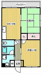河波マンション[1階]の間取り