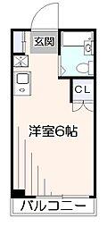 レサンス江原[2階]の間取り