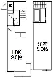 東札幌ステーションハウス[103号室]の間取り