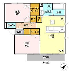セレーノ IIB[1階]の間取り