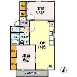 フォレストヴィラ B棟[1階]の間取り